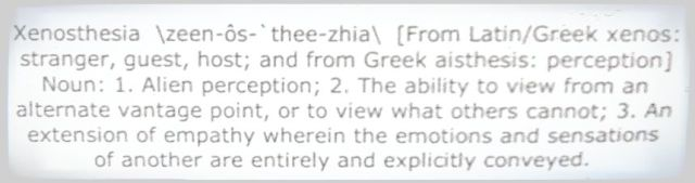 Wondering what xenosthesia is?